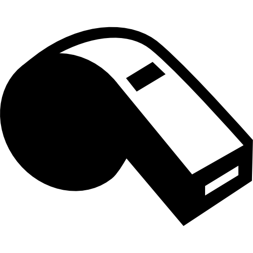 icon of a whistle that a coach would have to train students to overcome shyness