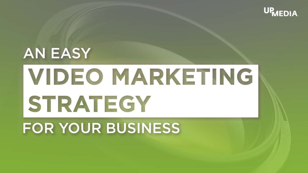 Camera lens with the following text: An Easy Video Marketing Strategy For Your Business