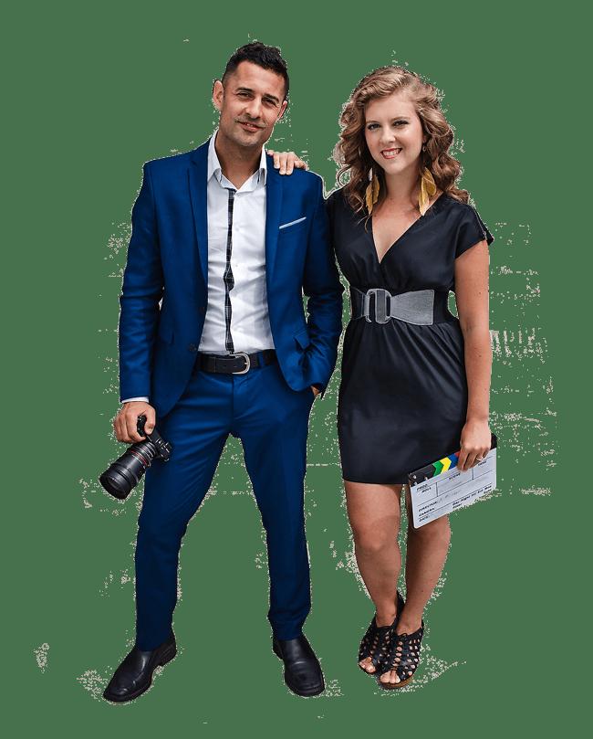 A photo of Anthony and Jennifer of the video production company: UpMedia