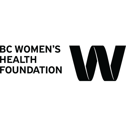 Logo: BC Women's Health Foundation in text, and a large W.