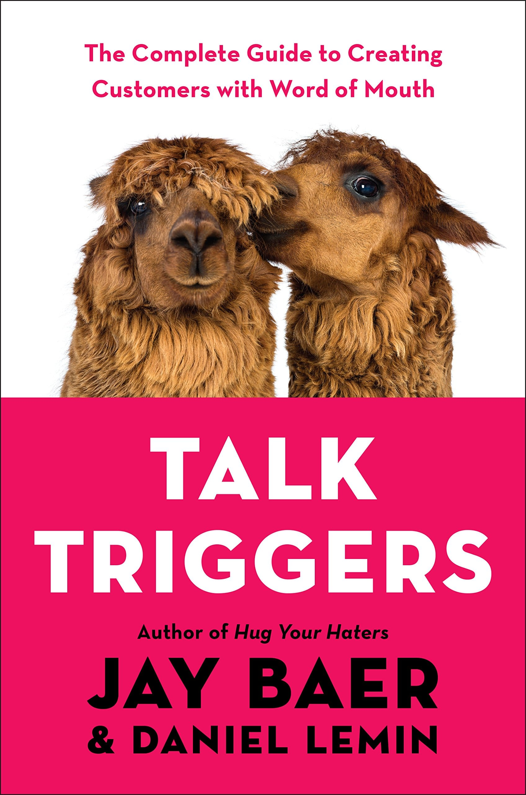 Book cover with 2 Llamas talking to each other.