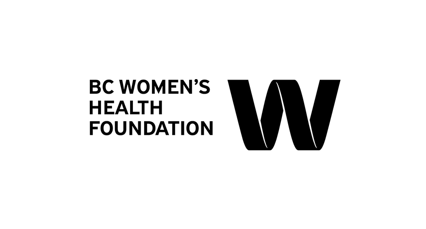 BC Women's Health Foundation logo in black & white
